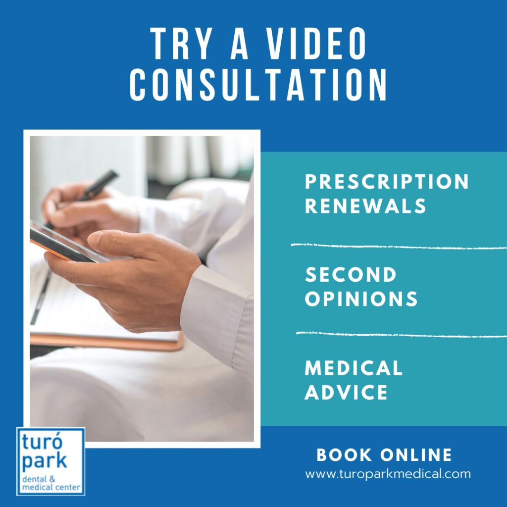try video consultation - Turo park medical dental and medical center barcelona
